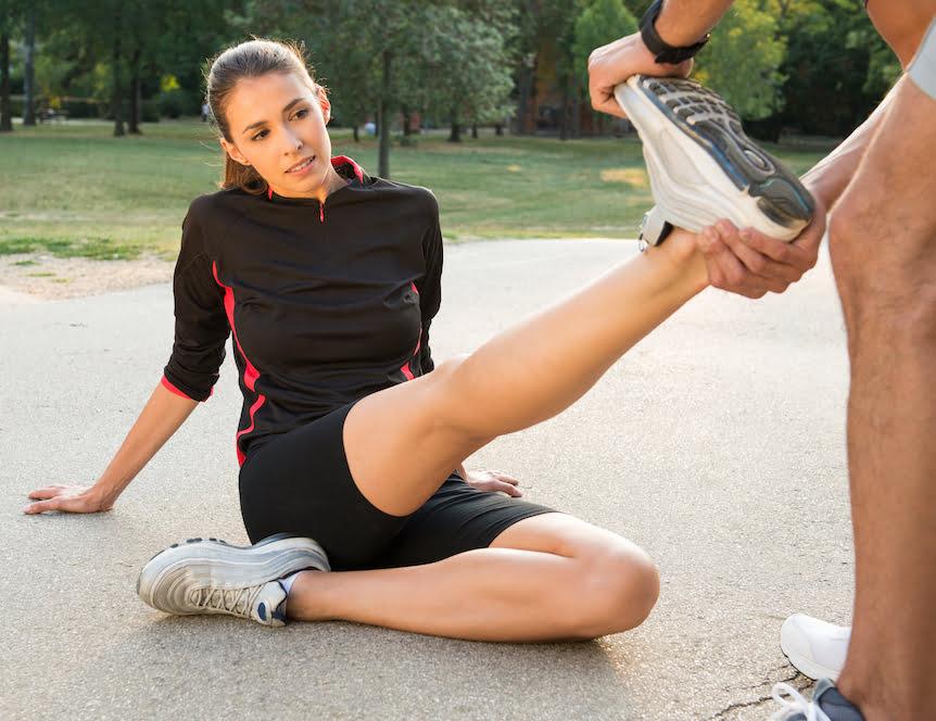 Achilles tendonitis in runners.