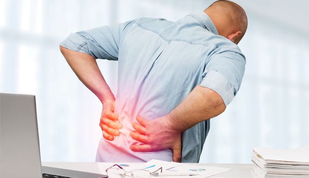 Back pain shockwave therapy.