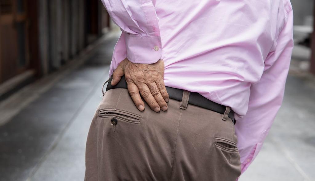 Hip pain shockwave treatment.